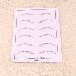 Wholesale Tattoo Designs For Beginners - New Arrival 15x20cm Body Art Synthetic Flexible Eyebrow Practice Skin for Beginners and Experienced Tattoo Designs Practice Skins MUA711