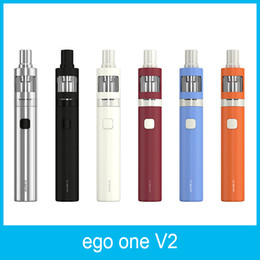 Wholesale Ego Standard Battery - 100% Original Joyetech eGo ONE V2 Standard Kit 1500mAh XL Kit 2200mah Battery With 2ml eGo ONE V2 Atomizer CL Pure Cotton Coil Head