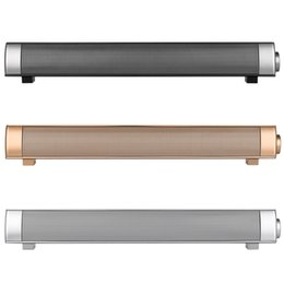 Wholesale Tv Bar Speakers - 10W Bluetooth Speaker Sound Bar Wireless Subwoofer Soundbar Receiver Stereo Super Bass Loudspeaker For iphone TV Phone