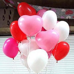 Wholesale High Quality Latex Balloons - High Quality 100pcs lot 25cm 10inch Heart Shape Latex Decal Balloons Party Wedding crative Toy Ballons Free Shipping