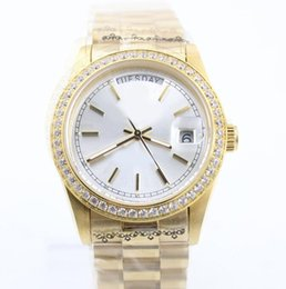 Wholesale Diamond Womens Watches - 7 styles 36mm ladies luxury brand diamonds watches gold automatic self winding womens watch sapphire glass aaa quality R wristwatches