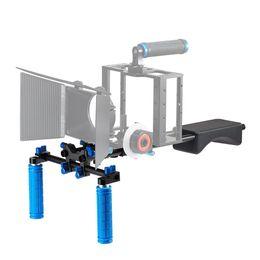 Wholesale Camcorders Camera - Portable FilmMaker System With Camera Camcorder Mount Slider, Soft Rubber Shoulder Pad and Dual-hand Handgrip For All DSLR Video Cameras DV