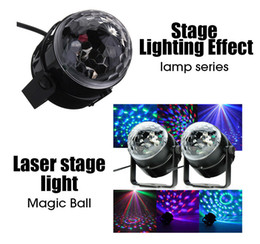Wholesale Disco Dance Light Projector - 3W Mini RGB LED Projector DJ lighting Light dance Disco Sound Voice-activated Crystal Magic ball bar Party Christmas Stage Lights Show
