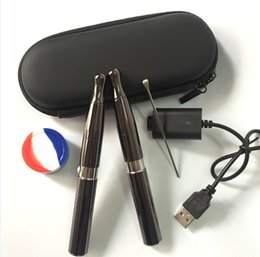 Wholesale Solid Vaporizer Pen - Double quartz coil wax concentrate vape pen vaporizer electronic cigarette puffco pro cloud vapor e cigarette pen e solid smoker