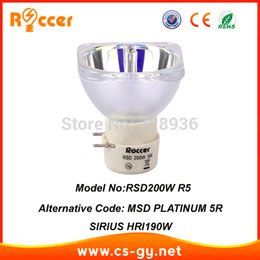Wholesale 5r Lamp - Wholesale- Roccer 200W 5R LAMP moving beam 200 lamp 5r beam 200 RSD200W R5 90% brightness of msd platinum 5r 200w
