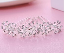 Wholesale Cheap Accessories Wholesale Korean - 2017 newest crystal Bride headpieces Korean hairpin accessories handmade headdress factory direct cheap clips free shipping
