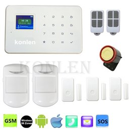 Wholesale 99 Zone Wireless Alarm - G18 Touch Alarm System Gsm Home Security Wireless 99 Zone Siren Alarm Android IOS App Control Remotly