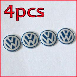 Wholesale Emblem Logo Key - Freeshipping 4PCS 14mm Remote Key Fob Logo Badge Emblem For Volkswagen VW Jetta Golf Passat M17770