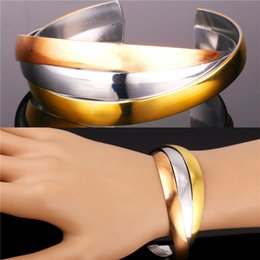 Wholesale Chain Stainless Mix Color - U7 Wrap Multi-layer Bracelet for Women Fashion Jewelry Mix Color Rose Gold 18K Gold Multi Layers Cuff Bracele Accessories Perfect Party Gift