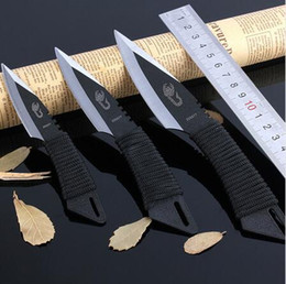 Wholesale Knife Steel Fixed - 3pcs  set Hiking knife survival knife set throwing knife diving Knives Tied hand knife bbq knife outdoor gear best gift