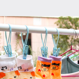 Wholesale outdoor clothing hats - 45 Pcs lot NEW Windproof Clothespins Laundry Bra Underwear Sun-cure Fixed Hanging Clips Clothes Pegs Free Shipping Hot