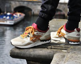 Wholesale Best Arts - Whosale 2016 Best Asics Gel-Lyte V Men Women Running Shoes High Quality Cheap Training Lightweight Online Walking Sport Shoes Free Ship