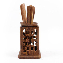 Wholesale Wholesale Wood Wings - 6pcs Tea set of chicken wing wood tea tools-wholesale 3 sets lot TL-009