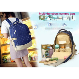 Wholesale Women Traveling Bags - Brand Designer baby diaper bag backpack Big Capacity baby care Mother backpack organizer waterproof traveling nappy changing bag bagpack