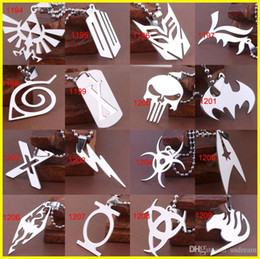 Wholesale superhero for woman - 17 Titanium superhero Avengers The Flash lightning Elder Scrolls dragon pendant necklaces for women men fans Marvel Movies jewelry 161203