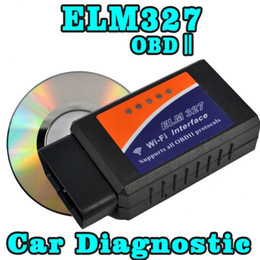 Wholesale Iphone Diagnostic Tools - Wholesale- High Quality OBD2 OBDII Scanner Diagnostic Tool ELM327 Wifi Code Reader Scan Tool Wireless Diagnostic Tool for iPhone
