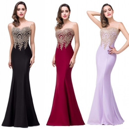 Wholesale Simple Modern Prom Dresses - Under $40 Fashion High Quality Sexy See Through Lace Long Evening Dresses Mermaid Backless Evening Dresses Prom Dresses Cheap CPS262