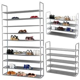 Wholesale Shoe Save Storage - Wall Shelf Closet Saving Storage Organizer Box Shoe Tower Rack 10-Tiers 50 Pairs