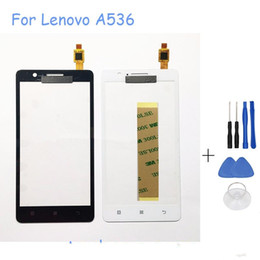 Wholesale Lenovo Digitizer Glass - 5.0 Inch Touch Screen For Lenovo A536 Touch Sensor Glass Digitizer Replacement For Lenovo A 536 With Free Tools+Sticker+Logo