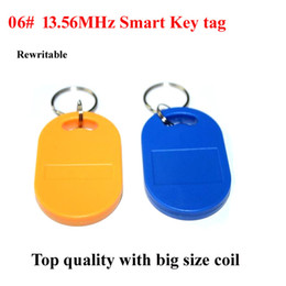 Wholesale Rfid Uid - Smart key ring 100pcs lot universal 13.56MHz NFC tag, rewritable UID Tag for smart card cloner,13.56mhz rfid card with good quality