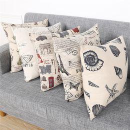 c52da195df8 45   45CM Home Sofa Throw Pillowcase Pure Color Polyester White Pillow  Cover Cushion Cover Pillow Case painted design Gift IB610