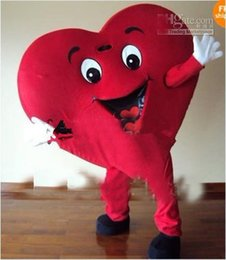 Wholesale Mascot Custom For Adults - best selling new 2016 Red Heart Adult Mascot Costume For Valentine's day Adult Size Fancy Dress Cartoon Outfits Suit