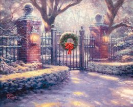 Wholesale Original Oil Painting Framed - Thomas Kinkade painting reproduction original oil landscape painting print on the wall-screen Decor Princess and the