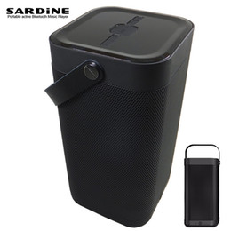 Wholesale Big Computer Speakers - Wholesale- SARDINE 16W big power bluetooth speaker, outdoor portable Aux bass column woofer usb speakes wireless for computer mp3 phone
