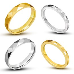 Wholesale Couple Brand Ring Stainless Steel - Best Sellers MultiSurface 18K Gold Plated Stainless Steel Ring For Lover' Accessories Jewelry Cheap 2016 Wedding Brand Couple Ring For Women