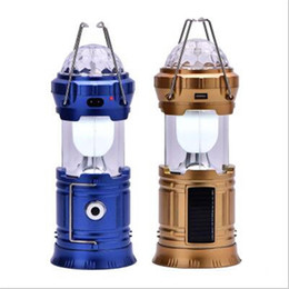 Wholesale Solar Powered Lanterns For Camping - Solar Camping Lantern Collapsible LED Party Light Portable Flashlight Rechargeable Solar Power Bank for Cell Phone Tablet Outdoor Hiking
