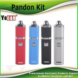 Wholesale Metal Quad - Original Yocan Pandon QUAD Wax Pen Starter Kit 1300mAh Battery Authentic 2 QDC Coils Tank vaporizer Kits 100% genuine 2204028