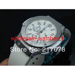 Wholesale Japanese Quartz Chronograph Movements - 2016 new Sapphire Big Japanese quartz Movement Chronograph White Dial Rubber Mens Men's Watch Watches