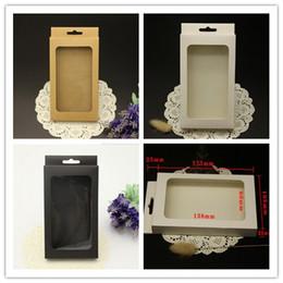 Scatole di imballaggio del pacchetto di vendita al dettaglio di retro carta Kraft marrone universale per la cassa del telefono iPhone SE 5S 4S 6 6S più Samsung Galaxy S6 bordo S7 OEM da