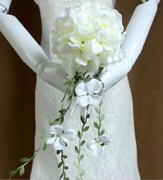 Yüksek kaliteli gelin buketi düğün süslemeleri çapı yaklaşık 14 cm beş Renk seçmek için Artificia Düğün Buketleri ücretsiz kargo WQ22 nereden