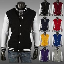 Wholesale Gray Varsity Jacket - East Knitting 2016 Premium Varsity College Letterman Baseball Jacket Uniform Jersey Hoodie Hoody US M L XL XXL