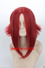 Wholesale Reflex Free - Free Shipping New High Quality Fashion Picture full lace wigs>>New wig Cosplay Code Geass  Kouzuki Kallen Dark Red Reflex Action Halve Wig