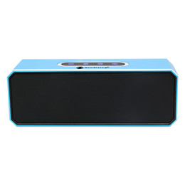 Wholesale Motherboard Bluetooth - Aluminum 2.1 EDR Bluetooth Speakers Built-in 2000MA battery Double loudspeakers 10W high power Motherboard with boost - blue