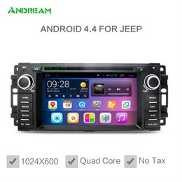 Wholesale Dvd Car Stereo For Dodge - Quad Core In-dash Car DVD Radio Stereo Android 4.4 GPS Sat Navigation wifi For Jeep Wrangler Commander Compass Grand cherokee Chrysler Dodge