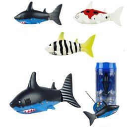 Wholesale Remote Toys For Water - Mini RC Shark UnderWater Coke Can RC Shark Fish 3CH Radio Remote Control Fish 3-Colors 3310B RC Toy for Kids Water Fun