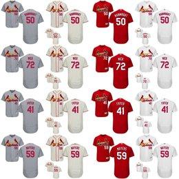 Wholesale Multi Wicks - 2017 St Louis Cardinals 50 Adam Wainwright 72 Rowan Wick 41 Eric Fryer 59 Mike Mayers Mens Womens Kids Cool Flex baseball Jerseys