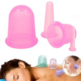 Wholesale Cellulite Massager Wholesale - 4PCS SET Health Care Products Body Anti Cellulite Silicone Vacuum Eye Face Back Massager Cupping Cup Set Massage Relaxation
