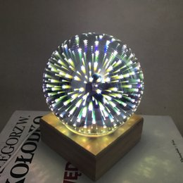 Wholesale super ball led - Super Pretty in Night LED 3D Colorful Starry Glass Starburst Ball LED Table Light DC5V 3W USB Charge For Home,wedding party decoration