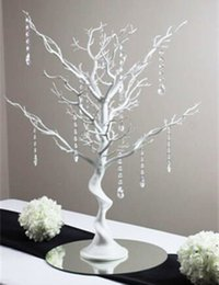 EW Novelty Christmas simulation fake tree White wedding road ha portato elementi decorativi con perline di cristallo da