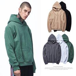 Hood homens s roupa on-line-Chegada nova Moda Mens Hoodies de Algodão Grosso Fino Preto Pulôver Oversize roupas masculinas de Alta Qualidade Slim Fit Capuz Meninos Do Esporte Camisolas