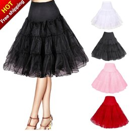 Wholesale Rockabilly Shorts - Short Organza Petticoat Crinoline Vintage Wedding Bridal Petticoat for Wedding Dresses Underskirt Rockabilly Tutu Rock and Ballet Skirt