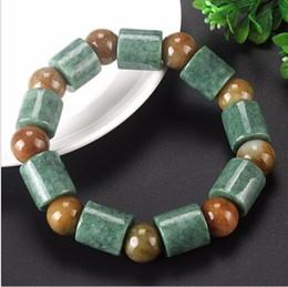Wholesale Chinese Jade Rings - 17mm Chinese 100% A Grade Natural  Jadeite Long Pillar Beads String Bracelet