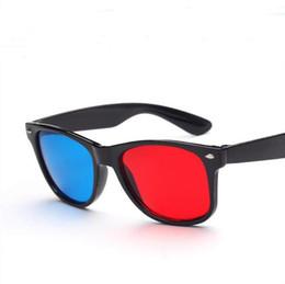 Wholesale Party Sunglasses - Sunglasses for women NEW 2017 girl wholesale vintage sunglasses Party Casual PC Colorful 3D red blue Retro sun glasses Unisex