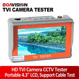 "Wholesale Security Camera Video Test Tester - Portable 4.3"" LCD Monitor TVI CCTV Camera Tester Security Surveillance HD-TVI Camera Tester Analog TVI Tester Video Cable Test"