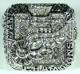 Wholesale Gold 18k Rings Wings - free shipping 2008 Detroit Red Wings Stanley Cup Championship Ring Crystal Silver Pleated rings for men Jewelry wholesale