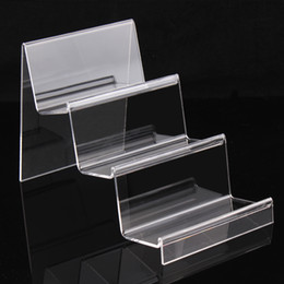 Wholesale Cellphone Holder Wallet - Clear Acrylic 3 layers jewelry display wallet show rack or cellphone holder